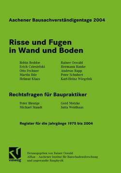 Aachener Bausachverständigentage 2004 von Oswald,  Rainer