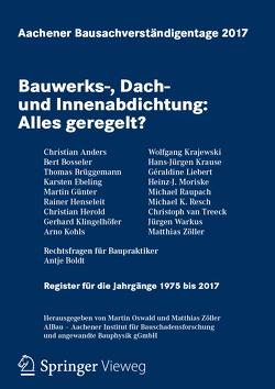 Aachener Bausachverständigentage 2017 von Oswald,  Martin, Zöller,  Matthias