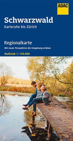 AADAC Regionalkarte Blatt 14 Schwarzwald Karlsruhe bis Zürich 1:150 000