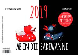 Ab in die Badewanne! Tischkalender 2019