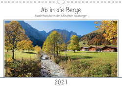 Ab in die Berge – Aussichtsplätze in den Münchner Hausbergen (Wandkalender 2021 DIN A4 quer) von SusaZoom