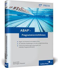 ABAP-Programmierrichtlinien von Keller,  Horst, Thümmel,  Wolf Hagen