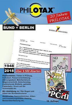 Abarten-Katalog Bund + Berlin 16.Auflage von PHILOTAX GmbH