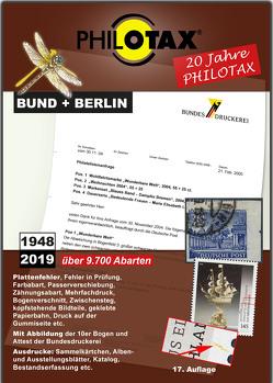 Abarten-Katalog Bund + Berlin 17.Auflage von PHILOTAX GmbH