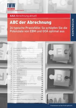 ABC der Abrechnung von Schlüter,  Peter