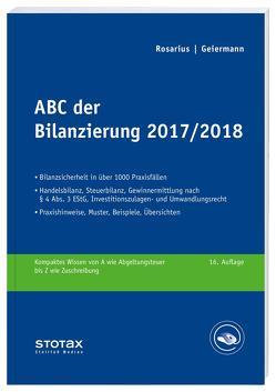 ABC der Bilanzierung 2017/2018 von Geiermann,  Holm, Rosarius,  Lothar