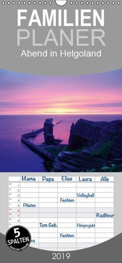 Abend in Helgoland – Familienplaner hoch (Wandkalender 2019 , 21 cm x 45 cm, hoch) von kattobello