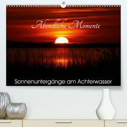 Abendliche Momente – Sonnenuntergänge am Achterwasser (Premium, hochwertiger DIN A2 Wandkalender 2020, Kunstdruck in Hochglanz) von Gerstner,  Wolfgang