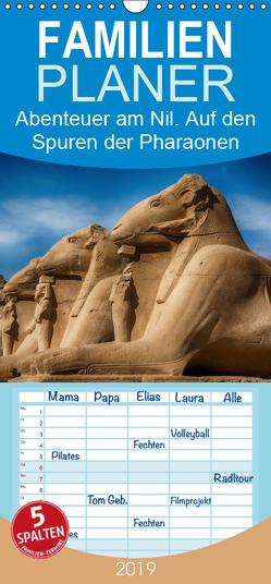 Abenteuer am Nil. Auf den Spuren der Pharaonen – Familienplaner hoch (Wandkalender 2019 , 21 cm x 45 cm, hoch) von Wenske,  Steffen