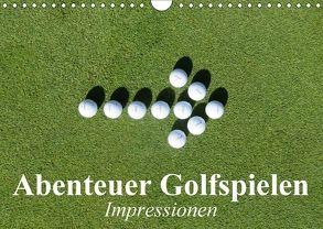 Abenteuer Golfspielen. Impressionen (Wandkalender 2018 DIN A4 quer) von Stanzer,  Elisabeth
