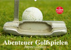 Abenteuer Golfspielen. Impressionen (Wandkalender 2020 DIN A2 quer) von Stanzer,  Elisabeth