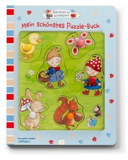 Abenteuer im Wichtelland. Mein schönstes Puzzle-Buch von Jaekel,  Franziska, Steinbeck,  Walter
