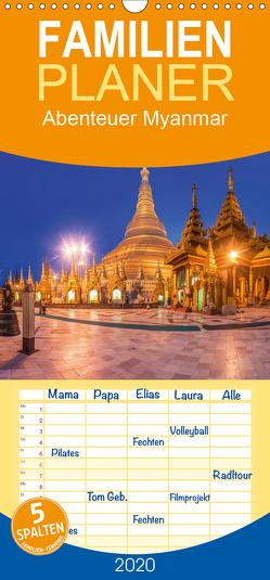 Abenteuer Myanmar – Familienplaner hoch (Wandkalender 2020 , 21 cm x 45 cm, hoch) von Claude Castor I 030mm-photography,  Jean