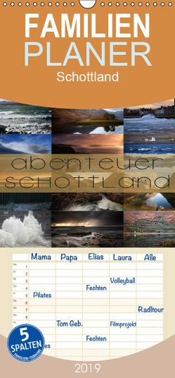 Abenteuer Schottland – Familienplaner hoch (Wandkalender 2019 , 21 cm x 45 cm, hoch) von Cross,  Martina