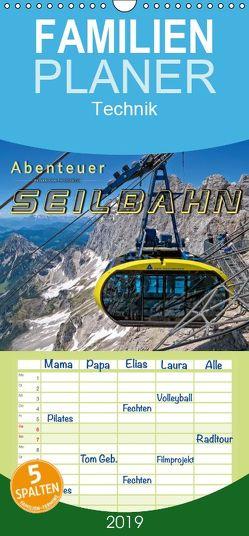 Abenteuer Seilbahn – Familienplaner hoch (Wandkalender 2019 , 21 cm x 45 cm, hoch) von Roder,  Peter