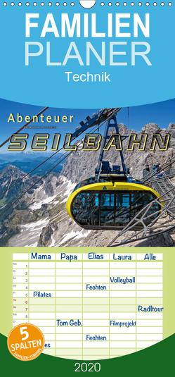Abenteuer Seilbahn – Familienplaner hoch (Wandkalender 2020 , 21 cm x 45 cm, hoch) von Roder,  Peter