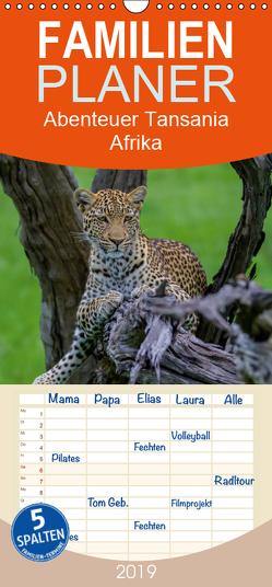 Abenteuer Tansania, Afrika – Familienplaner hoch (Wandkalender 2019 , 21 cm x 45 cm, hoch) von Struckmann,  Frank