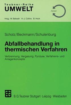 Abfallbehandlung in thermischen Verfahren von Beckmann,  Michael, Scholz,  Reinhard, Schulenburg,  Frank