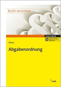 Abgabenordnung von Webel,  Karsten