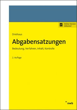 Abgabensatzungen von Driehaus,  Hans-Joachim