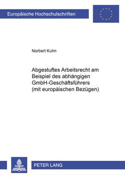 Abgestuftes Arbeitsrecht am Beispiel des abhängigen GmbH-Geschäftsführers (mit europäischen Bezügen) von Kuhn,  Norbert