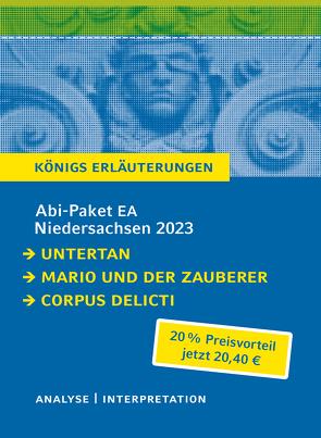 Abi-Paket EA Niedersachsen 2023 von Mann,  Heinrich, Mann,  Thomas, Zeh,  Juli