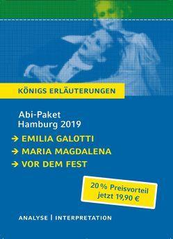 Abitur Deutsch Hamburg 2019 & 2020 – Königs Erläuterungen-Paket. von Hebbel,  Friedrich, Lessing,  Gotthold Ephraim, Stanišić,  Saša