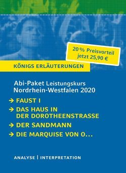 Abitur-Paket Nordrhein-Westfalen 2020. Deutsch Leistungskurs – Königs Erläuterungen: von Goethe,  Johann Wolfgang von, Hoffmann,  E T A, Kleist,  Heinrich von, Lange,  Hartmut