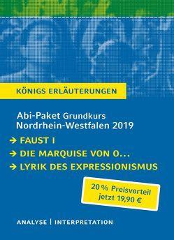 Abitur-Paket Nordrhein-Westfalen 2019 Deutsch Grundkurs – Königs Erläuterungen. von Goethe,  Johann Wolfgang von, Kleist,  Heinrich von
