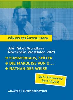 Abitur-Paket Nordrhein-Westfalen 2021. Deutsch Grundkurs – Königs Erläuterungen von Hermann,  Judith, Kleist,  Heinrich von, Lessing,  Gotthold Ephraim