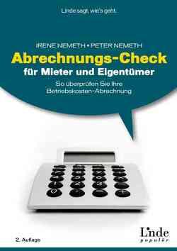 Abrechnungs-Check für Mieter und Eigentümer von Nemeth,  Irene, Nemeth,  Peter