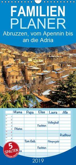Abruzzen, vom Apennin bis an die Adria – Familienplaner hoch (Wandkalender 2019 , 21 cm x 45 cm, hoch) von Roder,  Peter