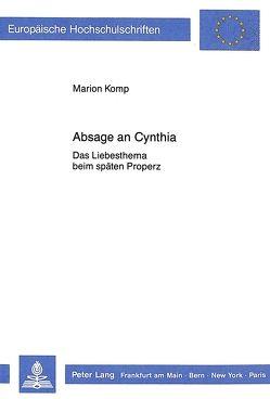 Absage an Cynthia von Komp,  Marion