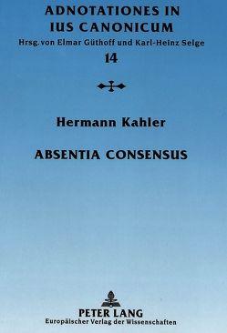 Absentia consensus von Kahler,  Hermann