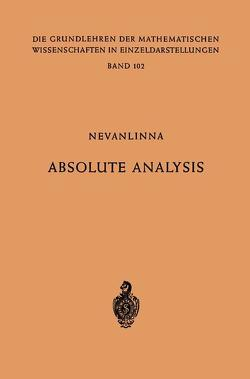 Absolute Analysis von Nevanlinna,  Frithjof, Nevanlinna,  Rolf