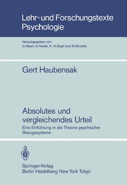 Absolutes und vergleichendes Urteil von Haubensak,  Gert
