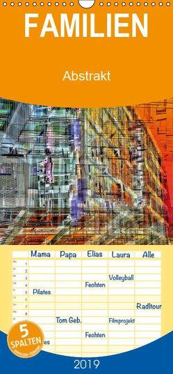 Abstrakt – Familienplaner hoch (Wandkalender 2019 <strong>21 cm x 45 cm</strong> hoch) von Spescha,  Maurus