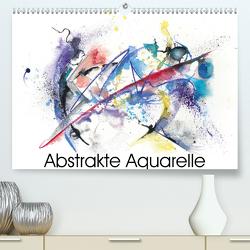 Abstrakte Aquarelle (Premium, hochwertiger DIN A2 Wandkalender 2021, Kunstdruck in Hochglanz) von Krause,  Jitka