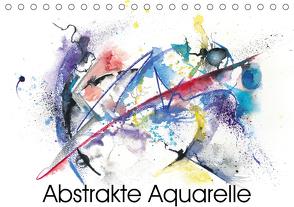 Abstrakte Aquarelle (Tischkalender 2021 DIN A5 quer) von Krause,  Jitka