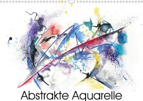 Abstrakte Aquarelle (Wandkalender 2021 DIN A3 quer) von Krause,  Jitka