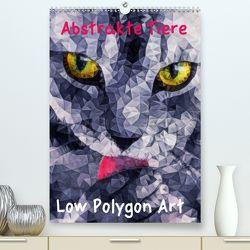 Abstrakte Tiere – Low Polygon Art (Premium, hochwertiger DIN A2 Wandkalender 2020, Kunstdruck in Hochglanz) von Ancello