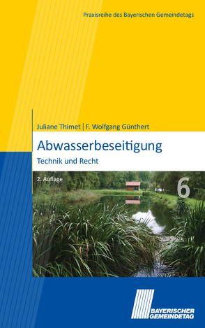 Abwasserbeseitigung von Guenthert,  F. Wolfgang, Thimet,  Juliane
