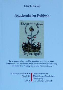 Academia im Exlibris von Becker,  Ulrich, Frische,  Detlef, Zinn,  Holger