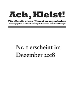 Ach, Kleist! von Emig,  Günther, Herrmann,  H., Staengle,  Peter