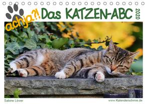 achja – Das Katzen-ABC (Tischkalender 2020 DIN A5 quer) von Löwer,  Sabine