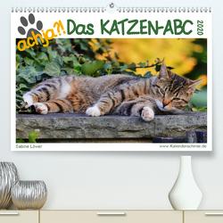 achja – Das Katzen-ABC (Premium, hochwertiger DIN A2 Wandkalender 2020, Kunstdruck in Hochglanz) von Löwer,  Sabine