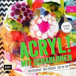 Acryl! mit Schablonen von Rüdel,  Iris