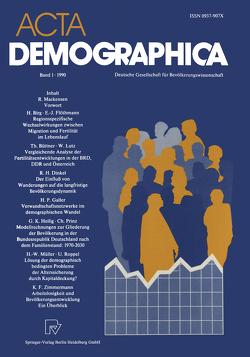 Acta Demographica von Buttler,  Günter, Hoffmann-Nowotny,  Hans-Joachim, Schmitt-Rink,  Gerhard