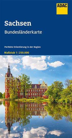 ADAC BundesländerKarte Deutschland Blatt 9 Sachsen 1:250 000