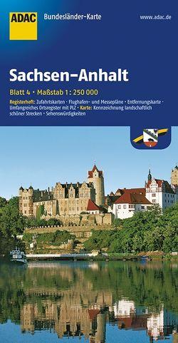 ADAC BundesländerKarte Deutschland Blatt 4 Sachsen-Anhalt 1:250 000